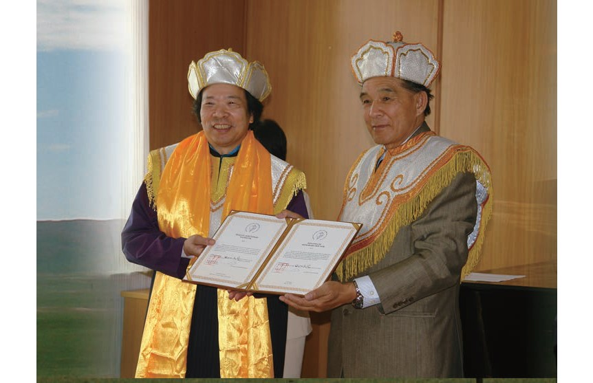 13 3Awarded Diploma of Honorary Doctor